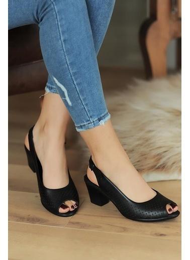 Pembe Potin A610-20 Kadın sandalet A610-20 Siyah